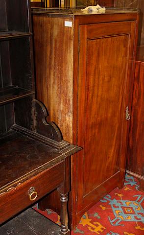 A 19th century mahogany cabinet,