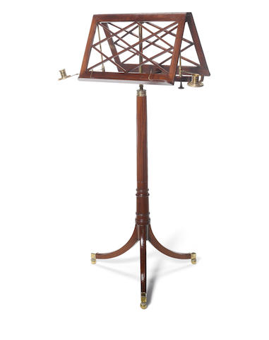 A Regency mahogany duet music stand by Erard