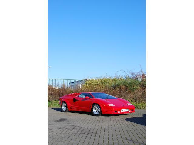 1,293 kilometres from new,1990 Lamborghini Countach 25th Anniversary Coupé  Chassis no. ZA9C005A0KLA12006 Engine no. 12006