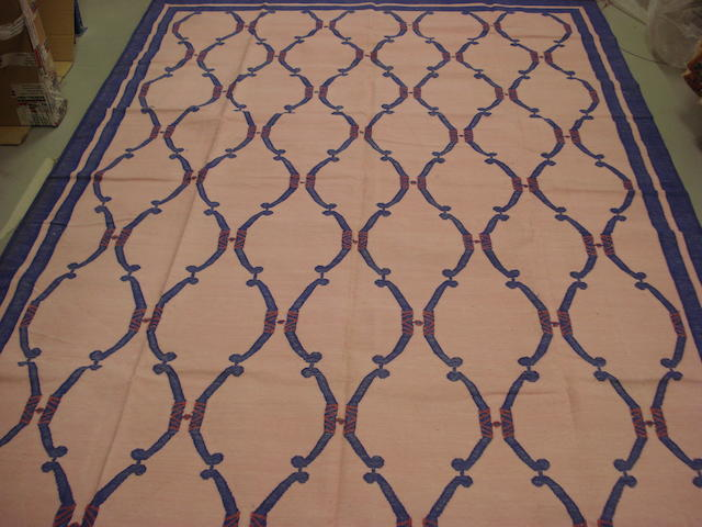 An Indian cotton dhurrie 288cm x 196cm
