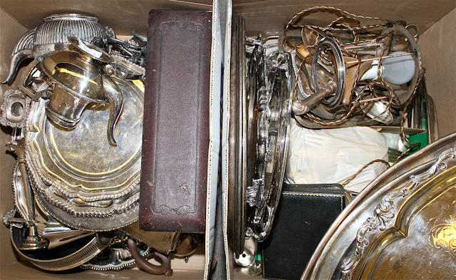 A collection of electroplated items