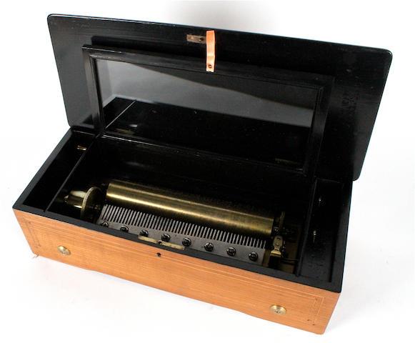A musical box playing twelve airs, circa 1890,