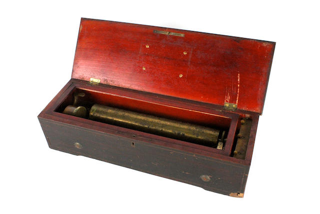 An eight-air hooked-tooth musical box, by Lecoultre Freres, circa 1866,