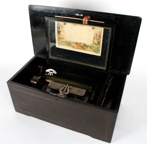 A musical box playing twelve airs, by M.M.C., circa 1893,