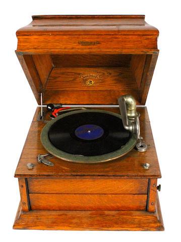 A Columbia Grafonola gramophone,