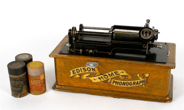 An Edison Home Phonograph, circa 1900,