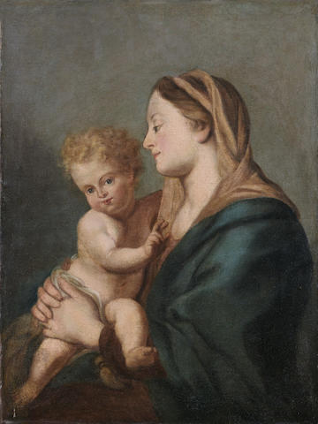 Circle of Francesco Trevisani Madonna and Child, oil on panel, 70 x 55 cm