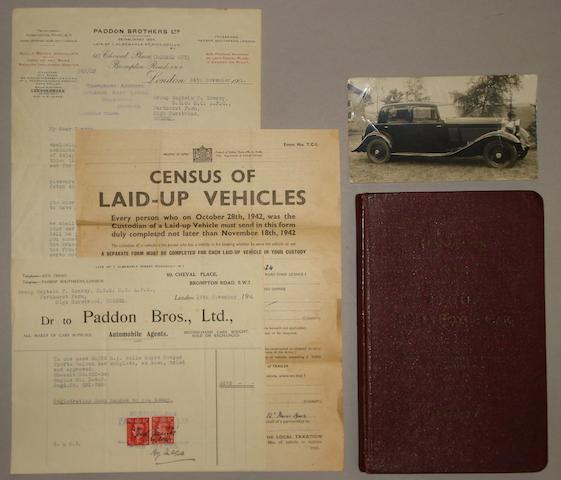 A Rolls Royce 20-25 Handbook, together with correspondence