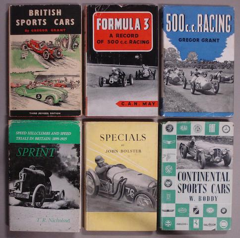 A lot of literature relating to sporting motoring,