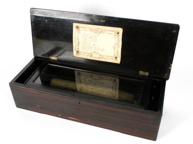 A musical box, by Mojon Manger, circa 1890,