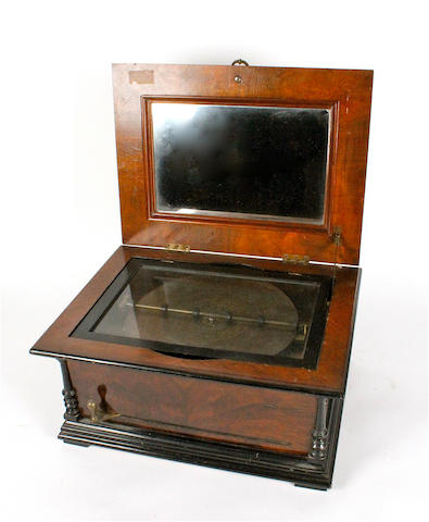 A Symphonion 11.7/8-inch disc musical box,
