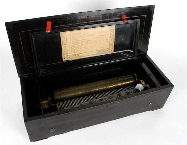 A musical box playing twelve airs, probably by Rivenc, circa 1892,