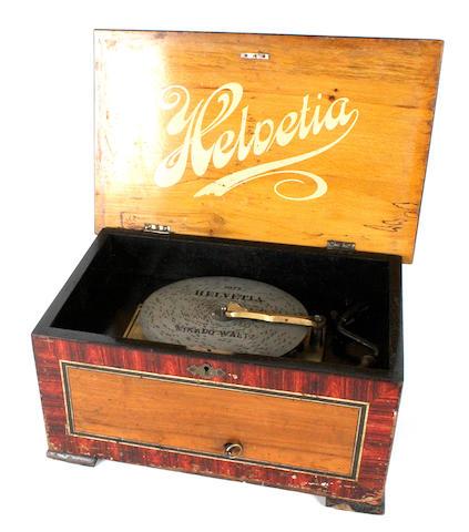 A Helvetia 8-inch disc musical box,