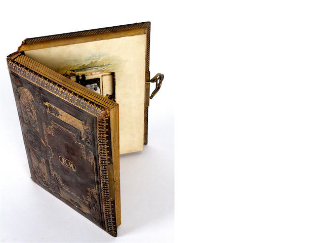 A musical photograph album, circa 1890,
