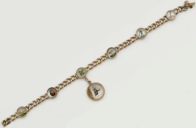 A late 19th century 'lucky charm' bracelet