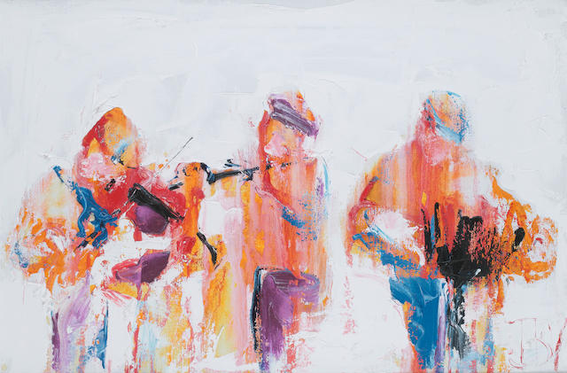 John B. Vallely (born 1941) Blast of music 51 x 76 cm. (20 x 30 in.)