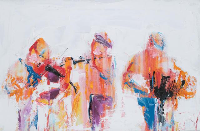 John B. Vallely (born 1941) Blast of music 51 x 76 cm. (20 x 30 in.)