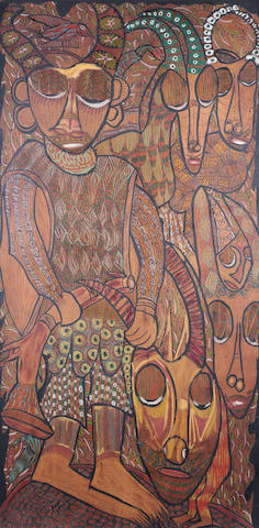 Prince Twins Seven-Seven (Nigerian, born 1944) The hunt