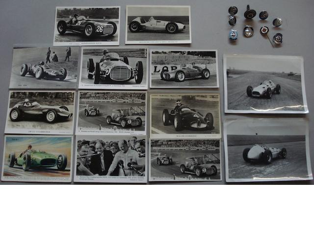 Assorted BRM/Owen Organisation memorabilia from the collection of Wilkie Wilkinson,