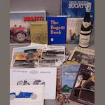 A lot of Bugatti literature,