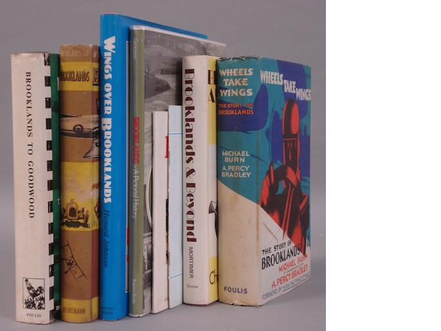Eight books relating to Brooklands,