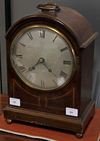 An early 20th Century mahogany mantel clock