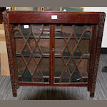 A 19th century mahogany dwarf bookcase on stand,