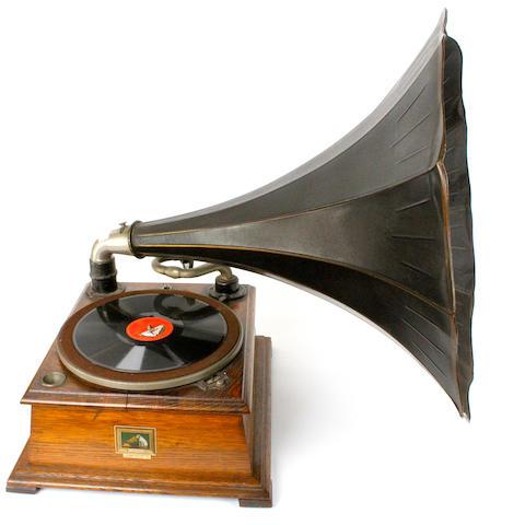 A HMV model 32 horn gramophone, circa 1910,