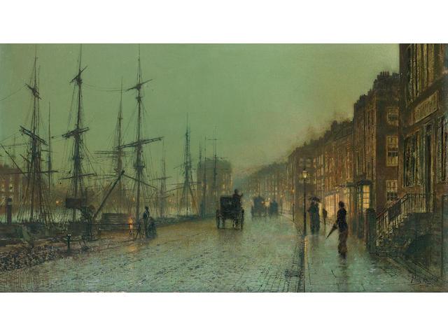 (n/a) John Atkinson Grimshaw (British, 1836-1893) Glasgow Docks
