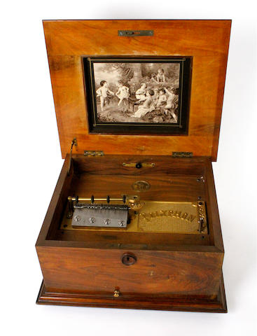 A Polyphon 11¼inch disc musical box, model 42N, circa 1900,