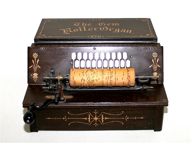 A twenty note Gem Roller organ, dated December 30th 1895,