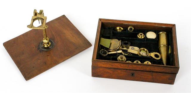 An Edward Palmer Gould-type microscope, English, 1838-45,