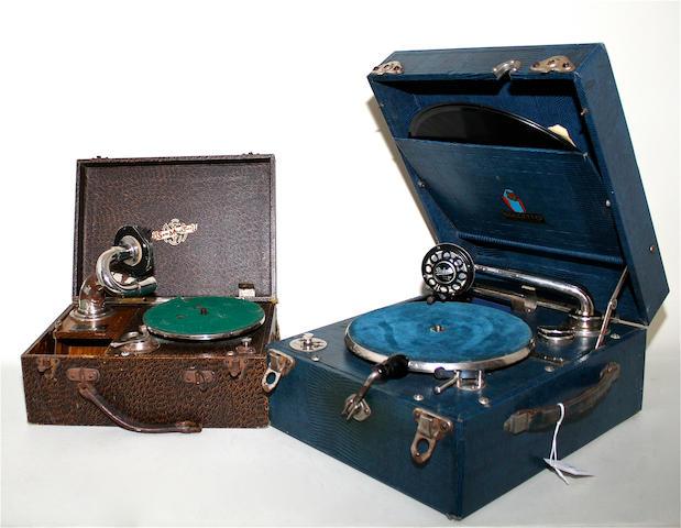 A Dulcetto portable gramophone, circa 1930 2
