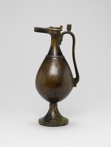 A post-Sassanian bronze ewer Persia circa 8th century