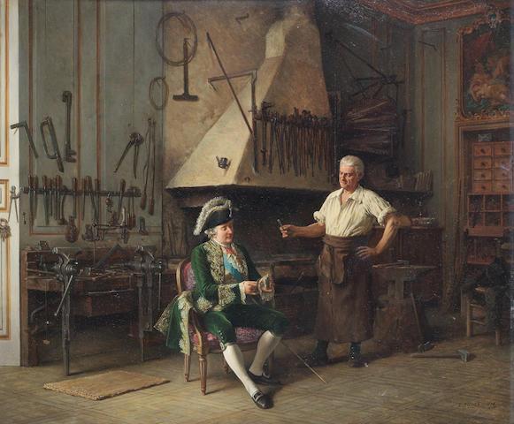 Benjamin Eugène Fichel (French, 1826-1895) La Forge du Roi Louis XVI