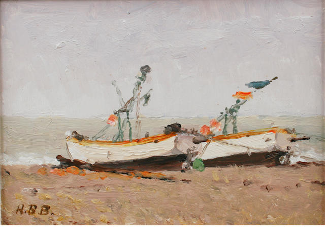 Hugh Boycott-Brown (British, 1909-1990) 'S.W. Gale, Aldeburgh fishing boats'