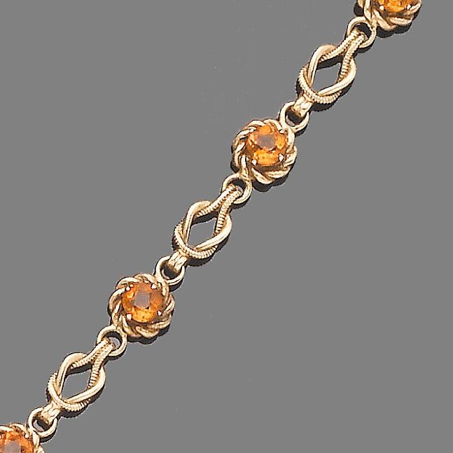 A citrine bracelet,