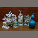 A small collection of Staffordshire pottery