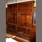 A pair of mahogany open bookcases,