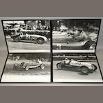 Four photographs of pre-War racing drivers and cars, by John Eason-Gibson,