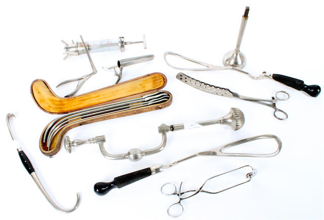 A collection of surgical instruments,  19th century,  (qty)