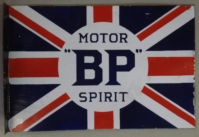A good 'BP Motor Spirit' double-sided enamel sign,