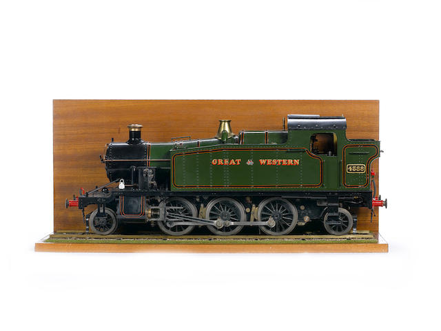 "Scratch built 3½"" gauge live steam model of a Great Western 2-6-2 Prairie Tank locomotive No.4588 Built by Mr J Darnell, 1990's"