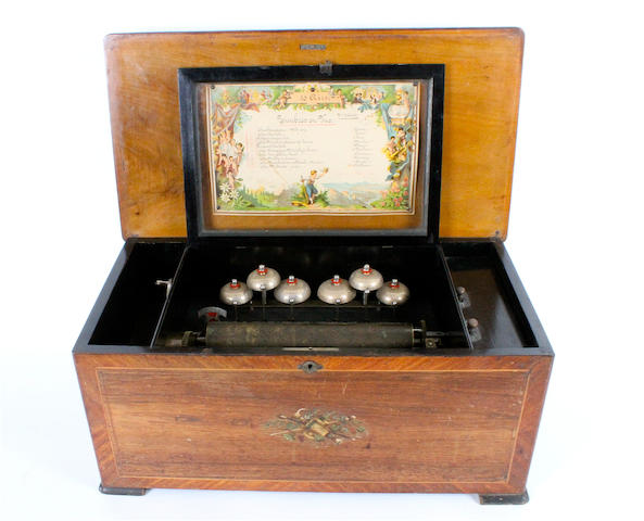 A 10-air 'Timbres en Vue' musical box, by Paillard, circa 1885,