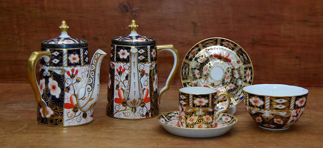 A Royal Crown Derby part coffee service