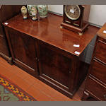 A mahogany low side cabinet