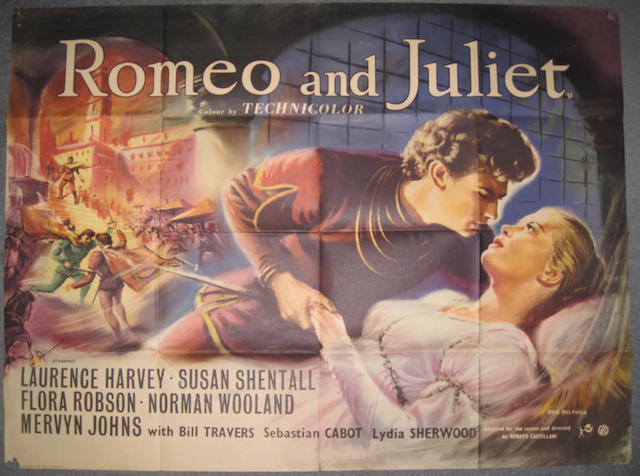A collection of ten Shakespeare UK Quad film posters, for titles including: