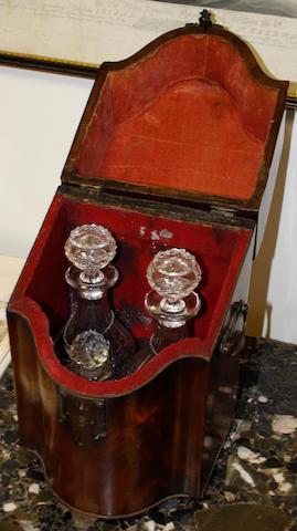 A George III mahagony knife box,