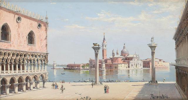 Antonietta Brandeis (Czechoslovakian, 1849-1910) The Dogana, Venice; San Giorgio Maggiore, Venice (2)