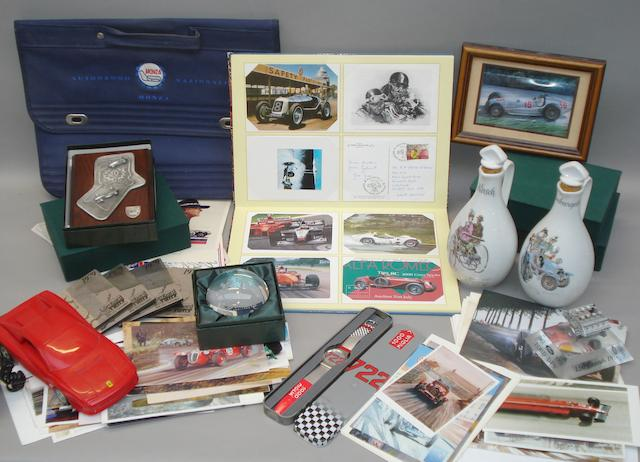 A good lot of assorted motorsport collectables,